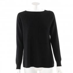 Max Mara czarny sweter z kieszenie