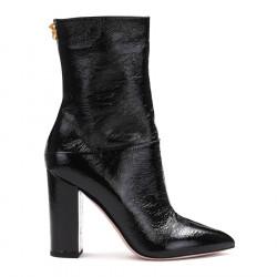 Valentino Buty czarne lakierowane botki 40