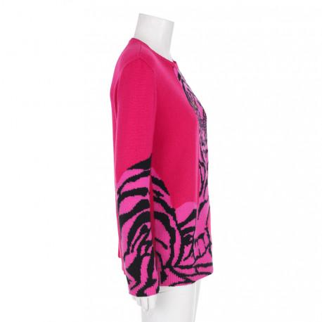 Valentino sweter rozowy z tygrysem